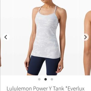NWT lululemon Y Power Incognito Camo Alpine White